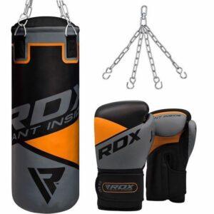 ΠΑΙΔΙΚΟΣ ΣΑΚΟΣ RDX 8O Black / Orange/ Gray +ΓΑΝΤΙΑ