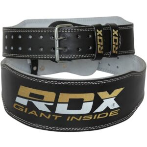 RDX 4 Inch Leather Weightlifting Gym Belt