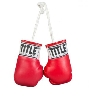 """TITLE 3.5"""" MINI BOXING GLOVES RED"""