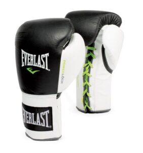 Γάντια δερμάτινα Everlast powerlock με κορδόνι Black/White