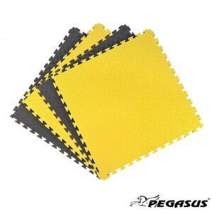Δάπεδο προστασίας Puzzle EVA (Μαύρο/Κίτρινο) 2.0cm