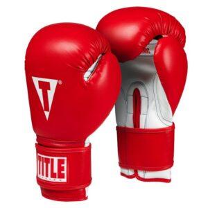 Γάντια προπόνησης TITLE Essential BOXING Κοκκινο